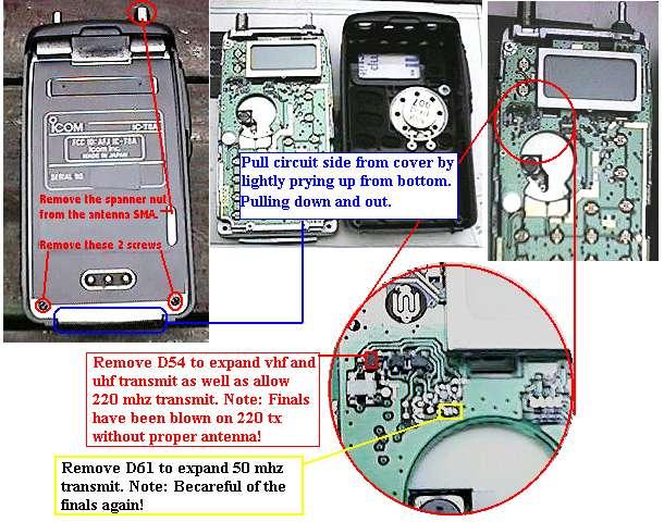 icom ic t8a ic t8 a ict8a transceiver mods reviews software and rh hampedia net Icom Inc Radios Icom 8 Prong Connector